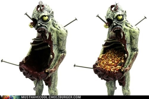 gruesome bird seed bird feeder zombie - 6696354560