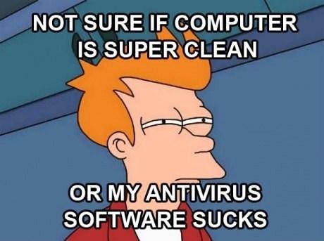 antivirus Norton virus Futurama Fry fry slow computer - 6696643840