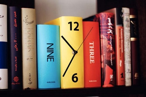 clock design time books reading is sexy - 6696659712
