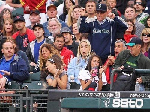 sports baseball foul ball ouch - 6696666112