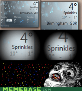 sprinkles,sparkles,jimmies,users can't spell,raisins,weather