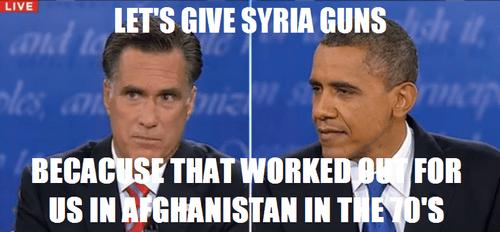 Mitt Romney barack obama syria guns - 6696875776