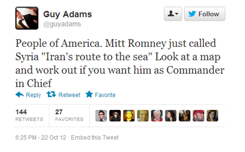 geography debate iran syria Mitt Romney - 6696884224