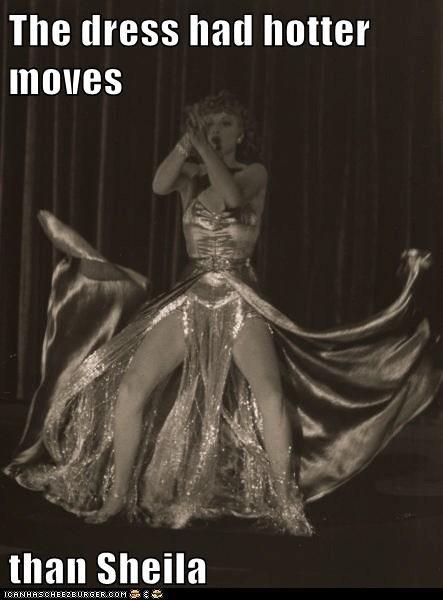 silver lucille ball dance dress - 6696905728