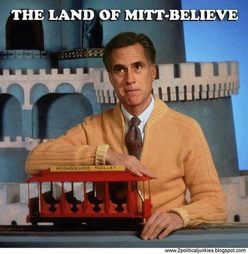 Mitt Romney,mr rogers,make believe