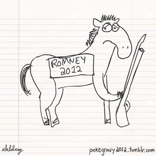 debate Mitt Romney horses - 6696951808