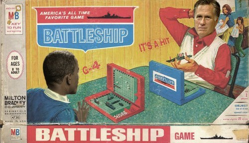 battleship debate Mitt Romney board game - 6697008384