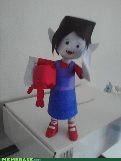 adventure time marceline the vampire queen paper craft Fan Art cartoons - 6697164032