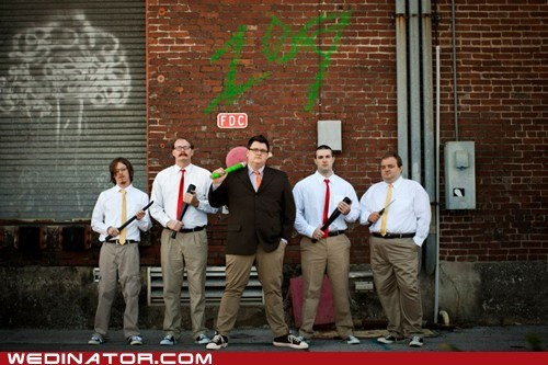 alley,gang,rumble,Groomsmen