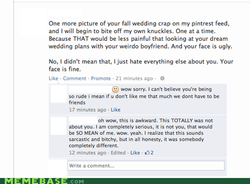 facebook that awkward moment denial wedding friends - 6697569536