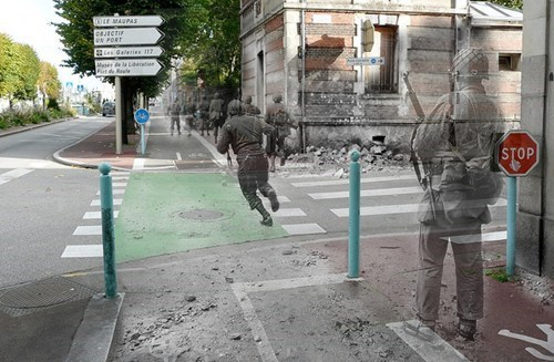 ghosts of war,world war II,europe,composite pictures