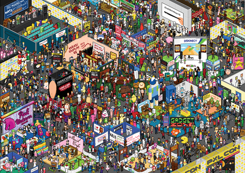 Fan Art,wheres waldo,conventions