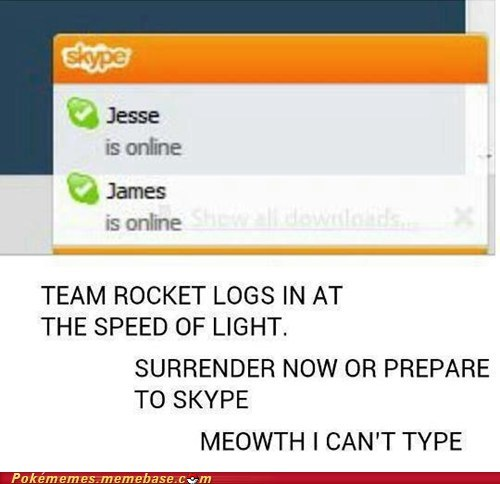 skype,Team Rocket,login,Jesse,james
