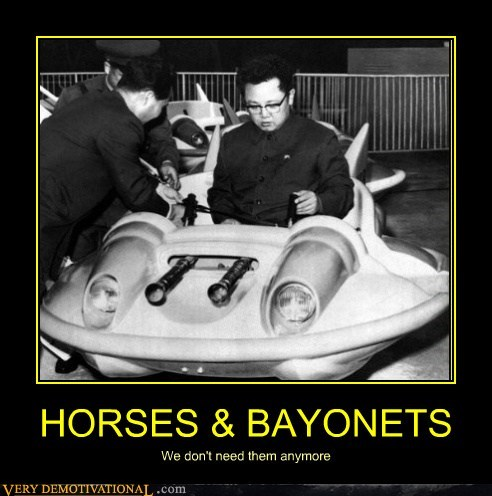 HORSES & BAYONETS We don't need them anymore