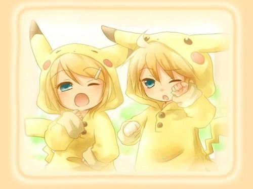 len rin vocaloid crossover Pokémon pikachu - 6698355968