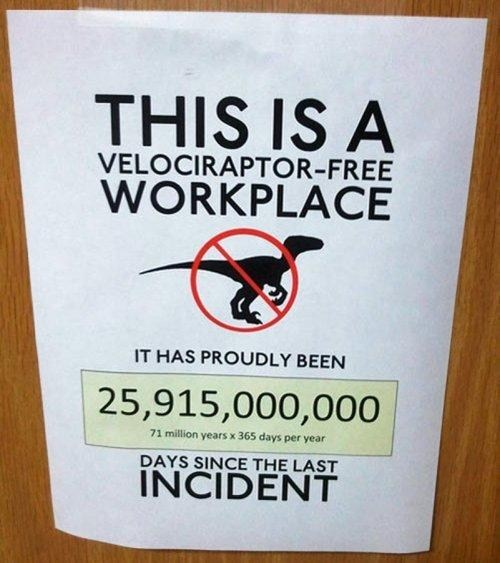 velociraptor,workplace,safety,incident