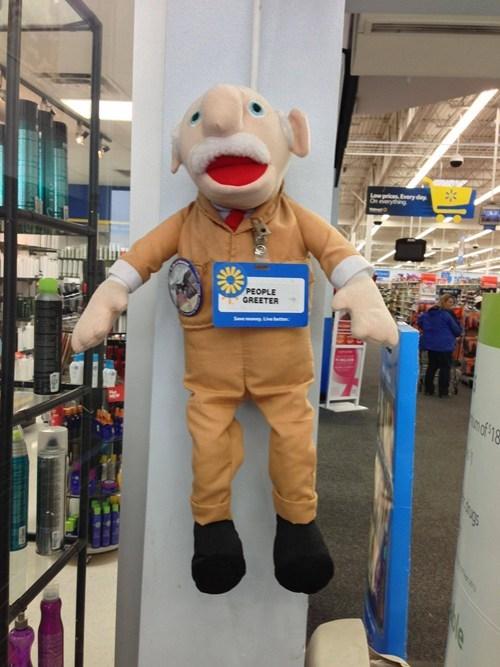 walmart greeter,Walmart,muppet,puppets