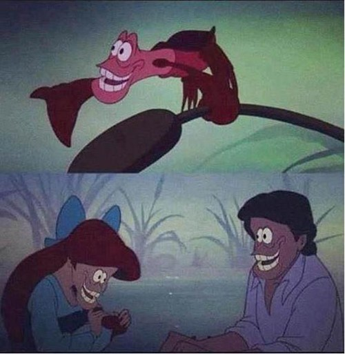 kiss the girl classic The Little Mermaid shopped - 6698818304