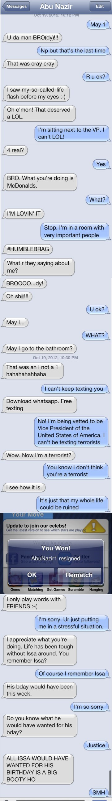 funny TV showtime homeland text message - 6698843904