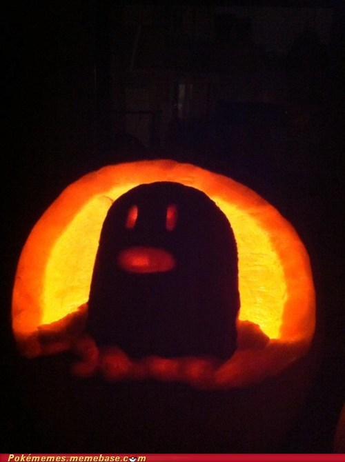 diglett wednesday,pumpkin carving,halloween,diglett