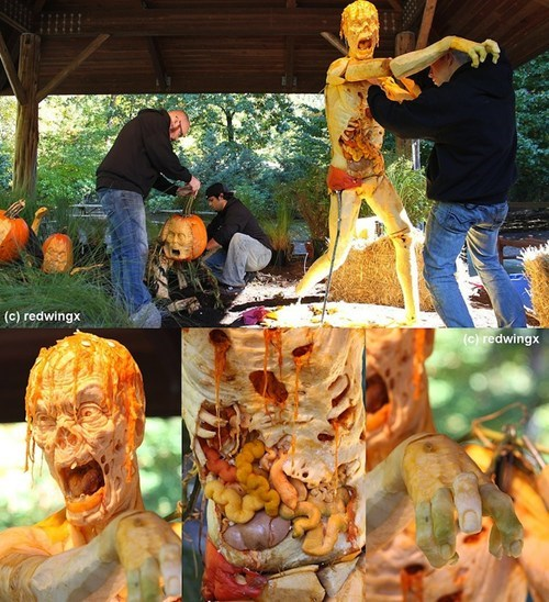 pumpkin carving,zombie,Art Exhibit
