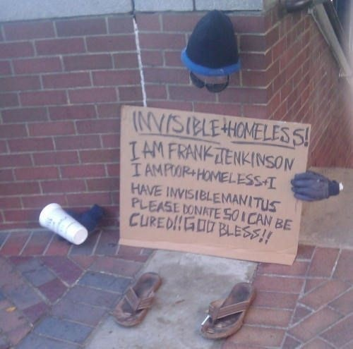 hobo invisible homeless guy homeless guy - 6698910976