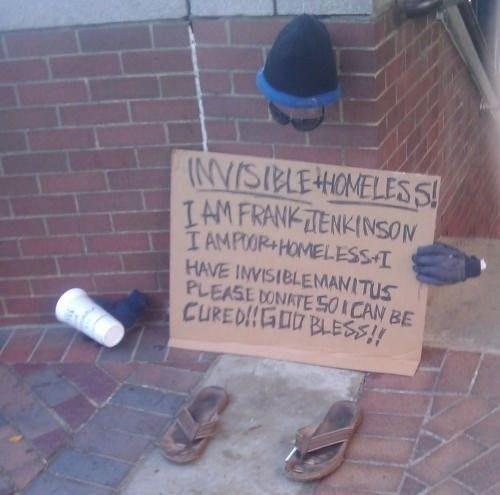 hobo invisible homeless guy homeless guy - 6698910976