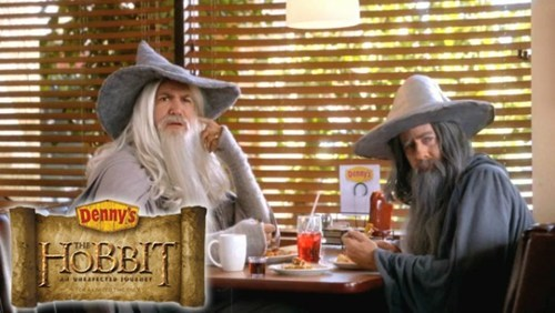 The Hobbit dennys menu marketing - 6698930944