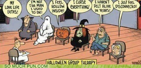 halloween,therapy,variations on a theme,literalism,group