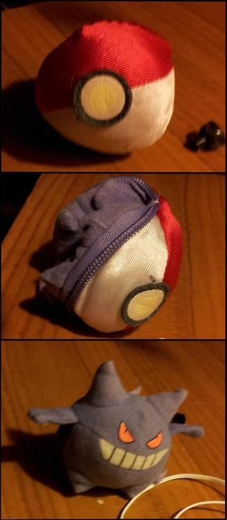 cute toy gengar pokeball - 6699113216