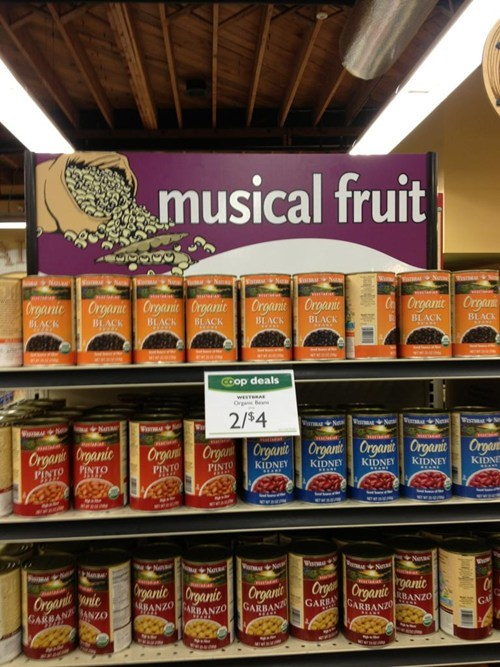 beans,musical fruit
