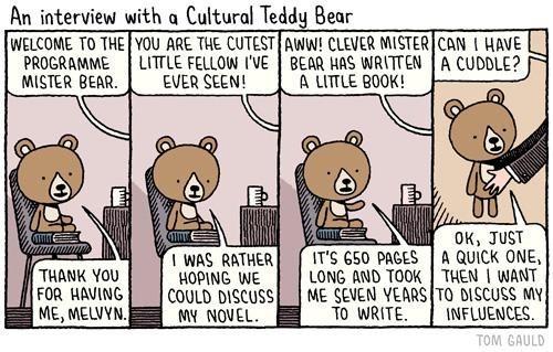 Tom Gauld cuddle interview books comics - 6699225856