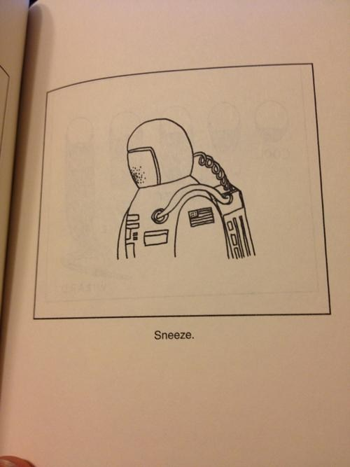 sneeze,astronaut,space helmet