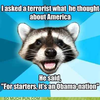 abomination obama Lame Pun Coon similar sounding nation barack obama suffix