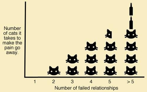 moar cats,Cats,failed relationships,cat people,breakups