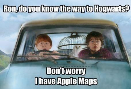 what could go wrong Harry Potter Ron Weasley Hogwarts apple maps