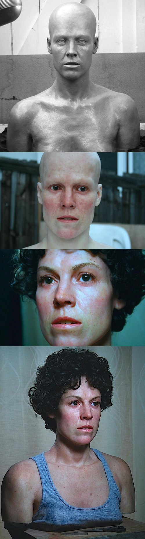 sigourney weaver,statue,Ellen Ripley,bust,Aliens,realistic,uncanny valley