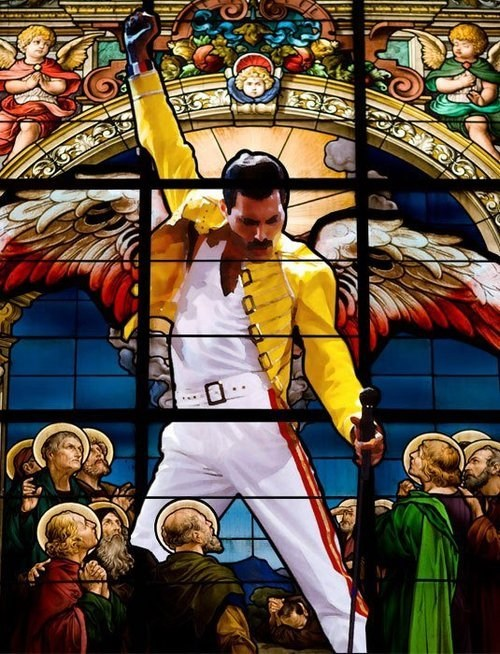 queen,stained glass,freddy murcury