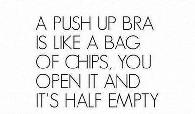 push up bra,bag of chips