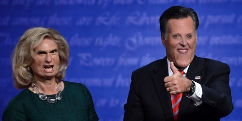 Mitt Romney,Ann Romney,face swap,thumbs up