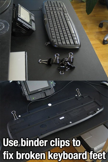 keyboard binder clips computer monday thru friday - 6699495424