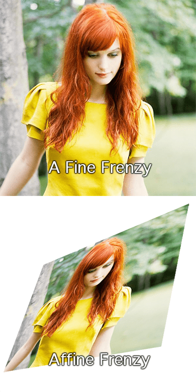 a fine frenzy affine transformation homophones literalism - 6699511552