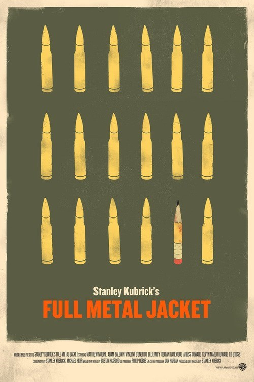 Movie,poster,minimalist,full metal jacket,art