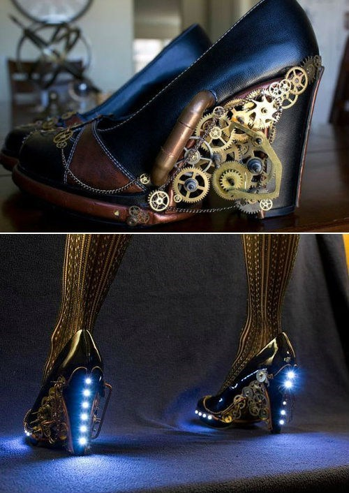 Steampunk shoes heels - 6699721984