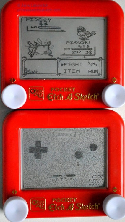 Pokémon,nerdgasm,video games,Etch A Sketch