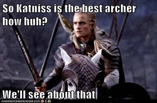 legolas,orlando bloom,Lord of the Rings,archer,challenge,katniss everdeen