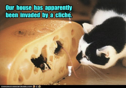 cliché mouse Cats captions chase cheese - 6699845376