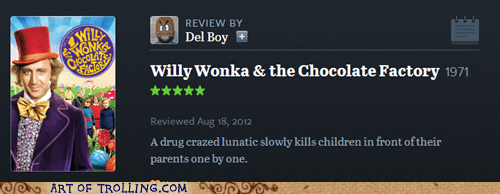 movies Willy Wonka reviews