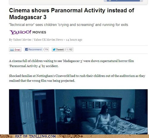 paranormal activity,madagascar,movies
