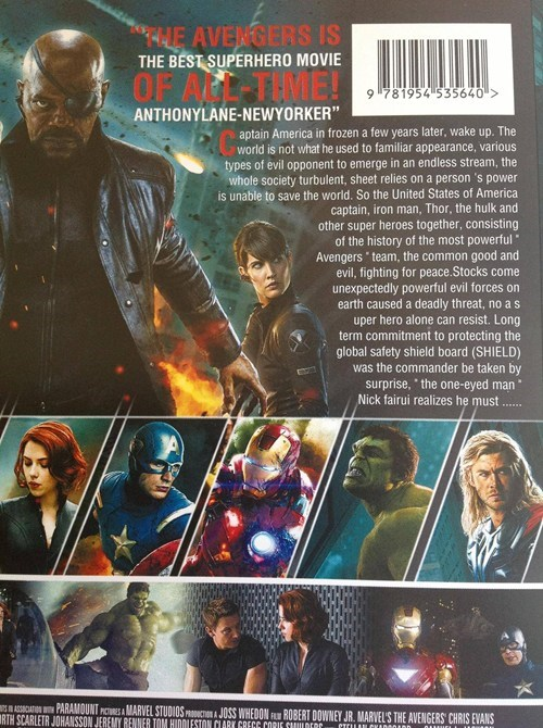 engrish Movie DVD avengers Hall of Fame best of week - 6700139008
